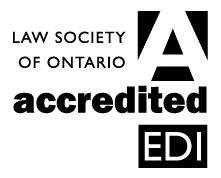Law Society of Ontario Accredited EDI
